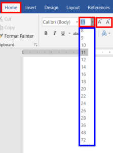 Increase-or-decrease-Grow-or-Shrink-Font-Size